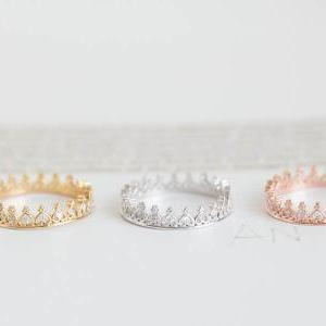 stacking heart crown ring/crown jew..