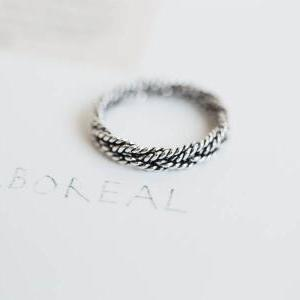 925 sterling silver rope twisted ri..