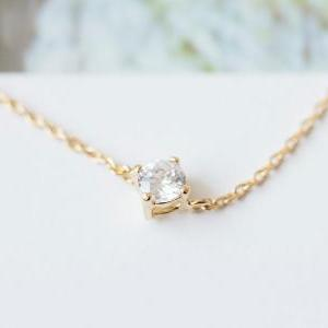crystal solitaire necklace,beautifu..