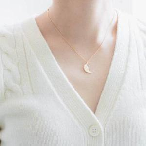 half moon necklace,cool necklace,gi..