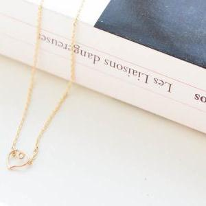 knot heart necklaces, open heart ne..