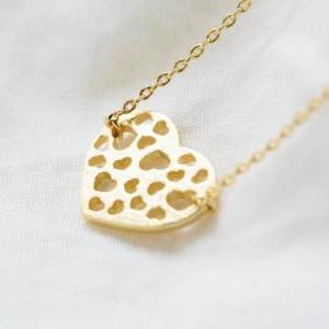 Heart hole necklace,heart necklaces..