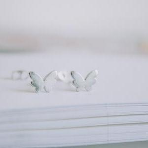 mini butterfly stud earrings/women ..