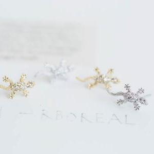 Lizard cz earrings, Jewelry,Earring..