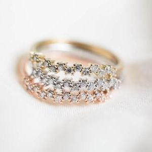 Cz up and down knuckle ring,bridesm..