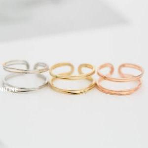 line x line adjustable knuckle ring..