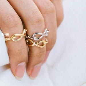 chain infinity knucklel ring,jewelr..