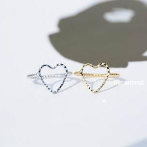crease heart midi knuckle ring,jewe..