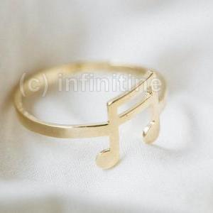 Gold Music note ring,antique style ..