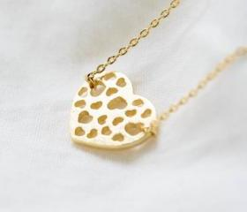 Heart hole necklace,..