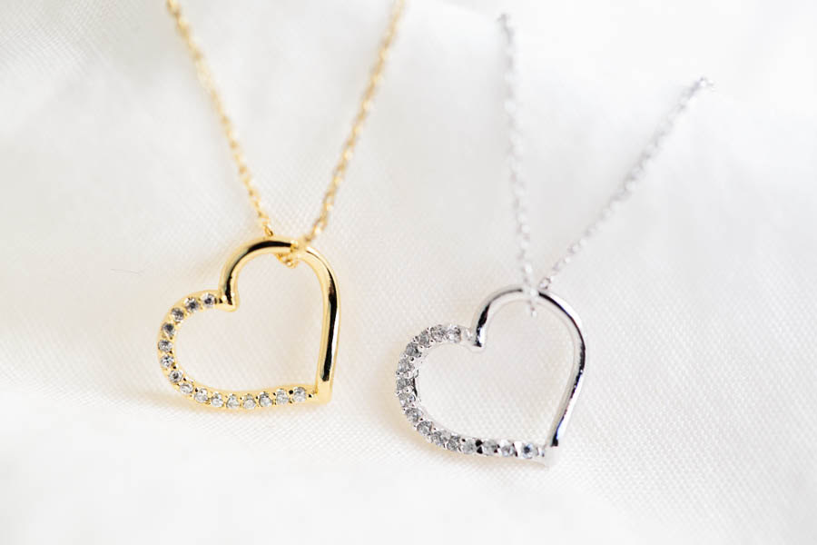 Cz Heart Necklace,bridesmaid Necklace,bridesmaid Gift,wedding Gift ...