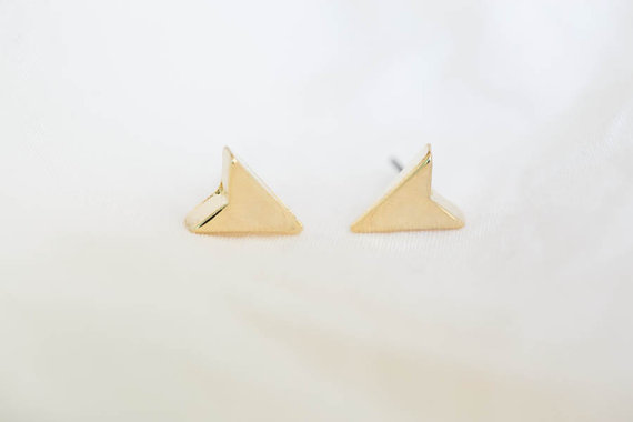 arrow earrings/gold plated earrings/bling earrings/men earrings/girl earrings,E021R