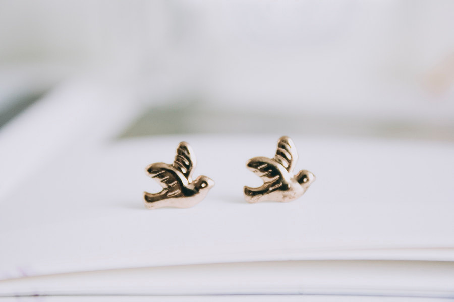 1960s vintage style bird earrings/designer earrings/stud earrings/earring for women/earrings men/fashion earring,E084R