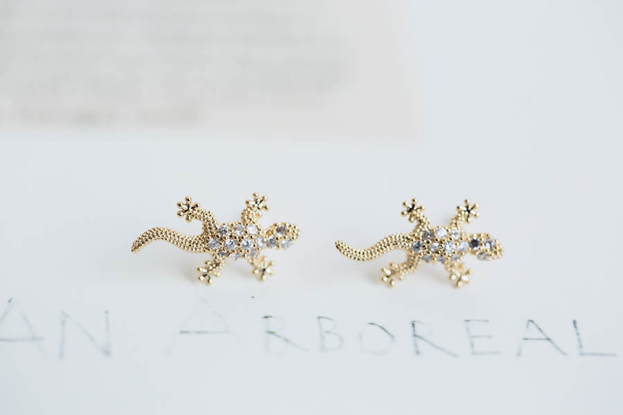 Lizard cz earrings, Jewelry,Earrings,post,anniversary earrings,bridesmaid gift,Salamander earrings,wedding earrings,E123R