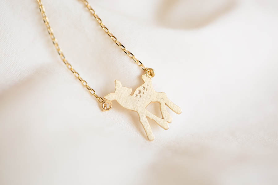 bambi necklace,deer necklace,animal necklace,fashion necklace,beautiful necklace,pretty necklace,womens necklace,cute bambi,N600k