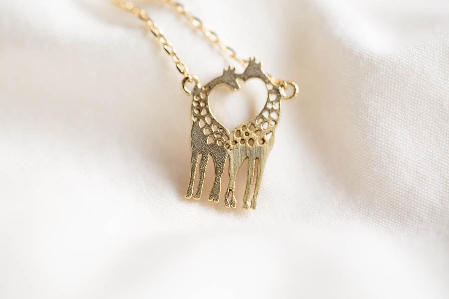 golden giraffe necklace