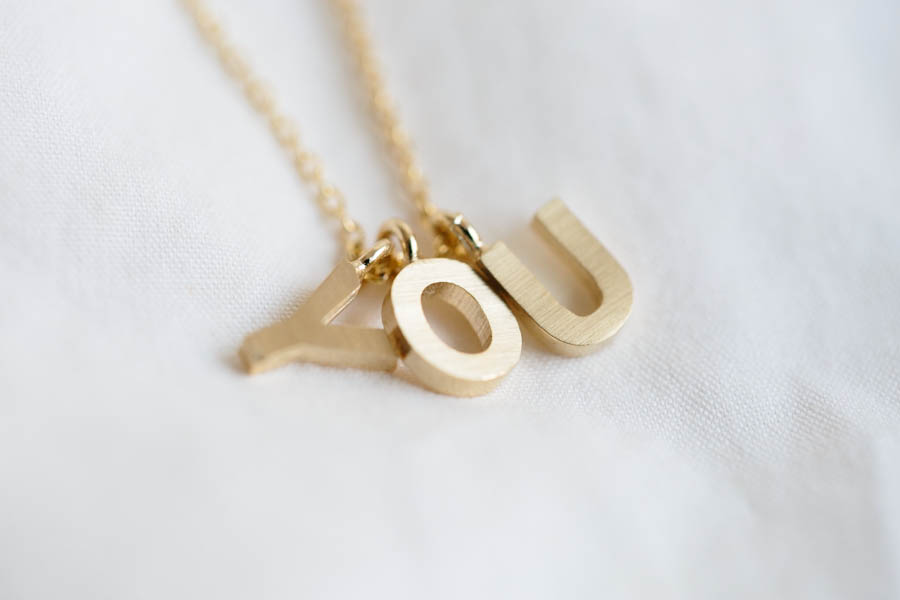Initial Necklace Jewelry Necklace Initial Jewelry Gift For