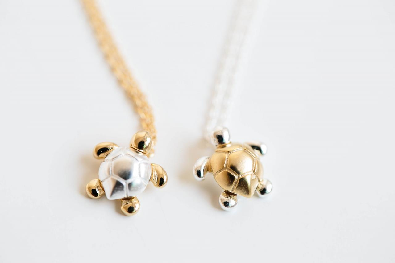 Cute turtle necklace,Jewelry,Necklace,Charm,Celebrity necklace,tortoise necklace,bridesmaid gift,Fashion Necklace,animal necklace,N171K