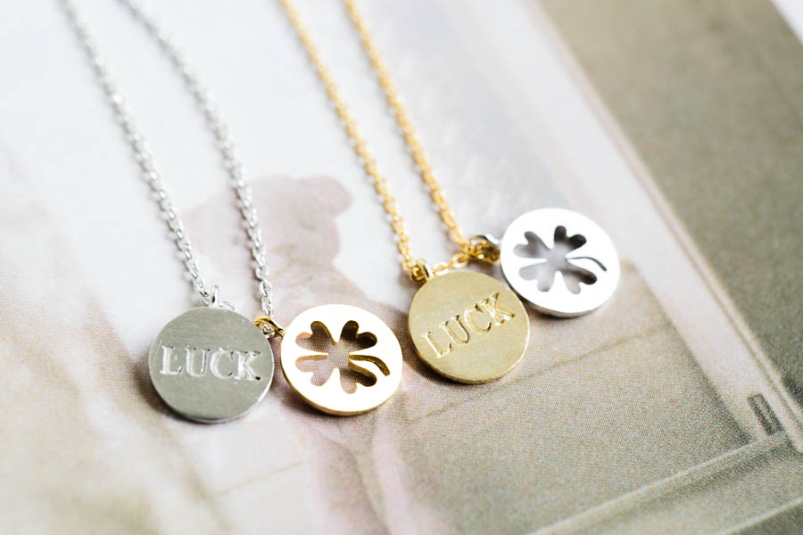 luck good gold rose en name necklace family necklaces