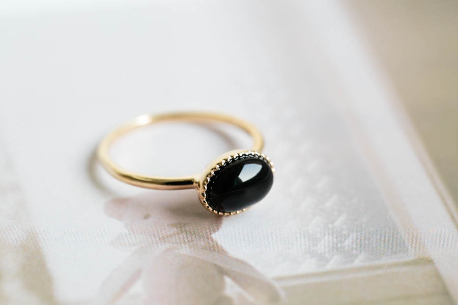 Onyx Stone Ring Jewelry Ring Black Stone Black Ring Black And
