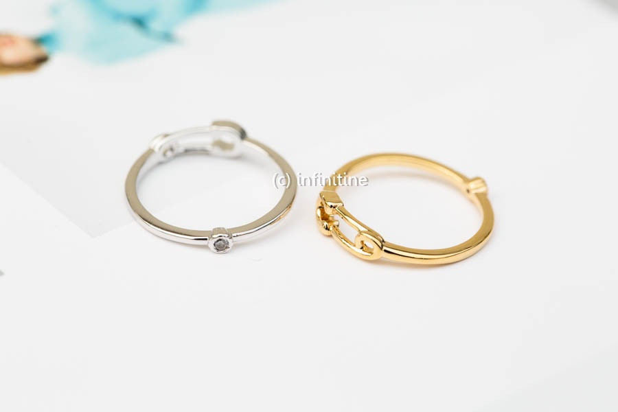 Mini Safety Pin Knuckle Ring,jewelry Rings,fashion Rings ...