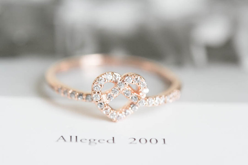 Rose Gold Cz Heart Rings Heart Shaped Rings Heart Engagement Rings