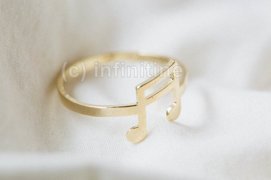 Gold Music note ring,antique style rings,bridal ring,cool ring,couple ring,vintage ring,unique ring,cool ring,music lover,celebrity ring,piano notes,choir,simple ring,I love music,musical,music note,RN2610