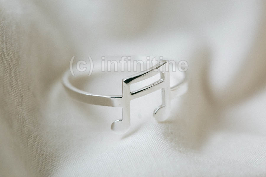 Silver Music note ring,antique style rings,bridal ring,cool ring,couple ring,vintage ring,unique ring,cool ring,music lover,celebrity ring,piano notes,choir,simple ring,I love music,musical,music note,RN2610