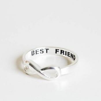 best friend infinity ring,best friends ring,infinity ring,infinity jewelry,eternity ring,jewelry ring,graduation ring,infinite ring,R120N