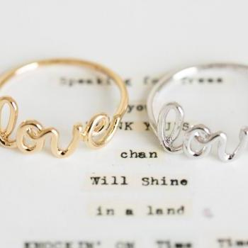 love letter ring/love ring/womens ring//couple ring/unique ring/friendship ring/girls ring/best friend ring/cute ring,R035N