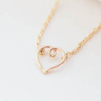 knot heart necklaces, open heart necklace, heart shaped necklace, , heart pendant necklaces,heart jewelry,valentine day necklaces,N109K