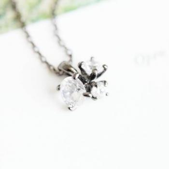 cubic zircornia bud necklace,anniversary necklace,jewelry necklaces,crystal necklace,mother necklace,grandma necklaces,N098K
