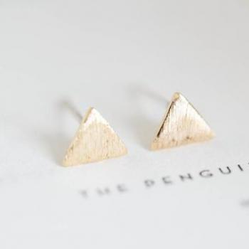 inca triangle stud earrings/silver earrings/earrings silver/earrings for men/earrings men/teens earrings/earrings studs,E009R