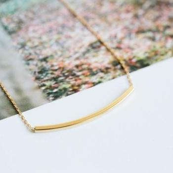 Long square bar necklace,Jewelry,Necklace,bar necklace,bridesmaid gift,Square necklace,stick necklace,simple necklace,modern necklace,N414K