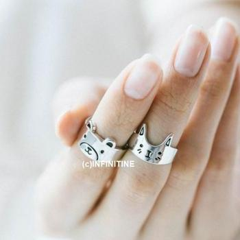 Baby cat knuckle ring,RN2519