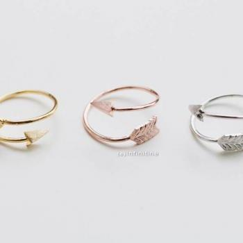 Silver thick arrow rings/unique rings,adjustable rings,knuckle ring,stretch rings,men ring,cool rings,couple rings,cute ring,fun rings,bow rings,R021N